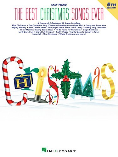 The Best Christmas Songs Ever Easy Piano Songbook