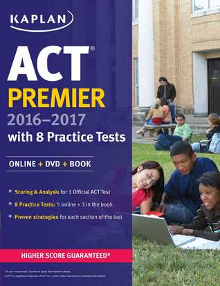 ACT Premier 2016-2017 with 8 Practice Tests: Online + DVD + Book