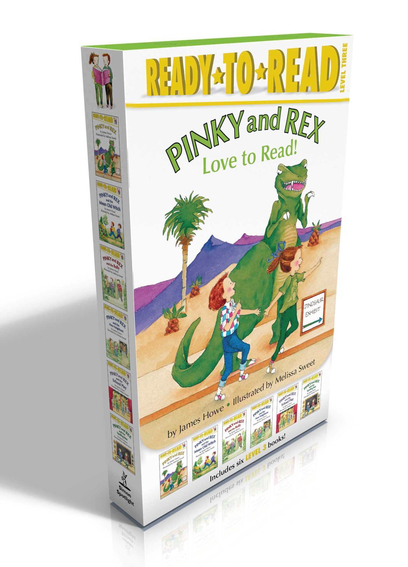 Pinky and Rex Love to Read!: Pinky and Rex; Pinky and Rex and the Mean Old Witch; Pinky and Rex and the Bully; Pinky and Rex and the New Neighbors; Pinky and Rex and the School Play; Pinky and Rex and the Spelling Bee