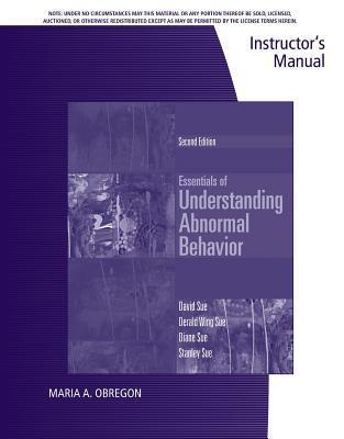 Essentials of Understanding Abnormal Behavior--Instructor's Manual