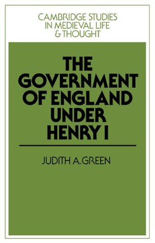 The Government of England Under Henry I