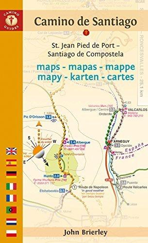 Camino de Santiago Maps - 2016 edition: St. Jean Pied de Port – Santiago de Compostela