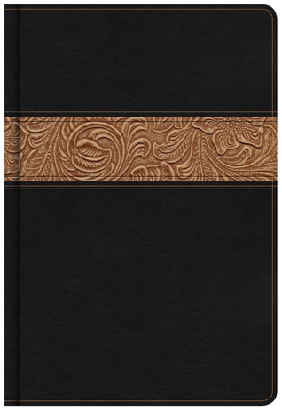 KJV Reader's Bible, Black/Brown Tooled LeatherTouch
