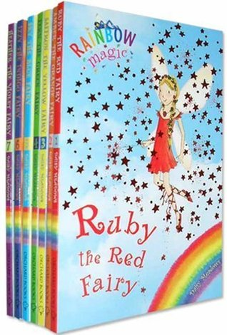 Rainbow Magic Colour Fairies Collection 7 Books Pack Set (Series 1 to 7) RRP £27.93 ( Ruby the Red Fairy, Amber the Orange Fairy, Saffron the Yellow Fairy, Fern the Green Fairy, Sky the Blue Fairy, Izzy the Indigo Fairy, Heather the Violet Fairy ) (Rainbo