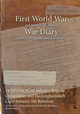 14 DIVISION 42 Infantry Brigade Oxfordshire and Buckinghamshire Light Infantry 5th Battalion : 18 May 1915 - 20 June 1918 (First World War, War Diary, WO95/1900/4)