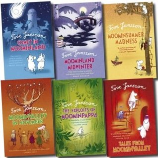 Moomins books - 6 books: The Finn Family Moomintroll pack (The Exploits of Moominpappa / Tales from Nominally / Moomin Summer Madness / Moominland Midwinter / Finn Family Moomintroll / Comet in Moominland rrp £29.94)