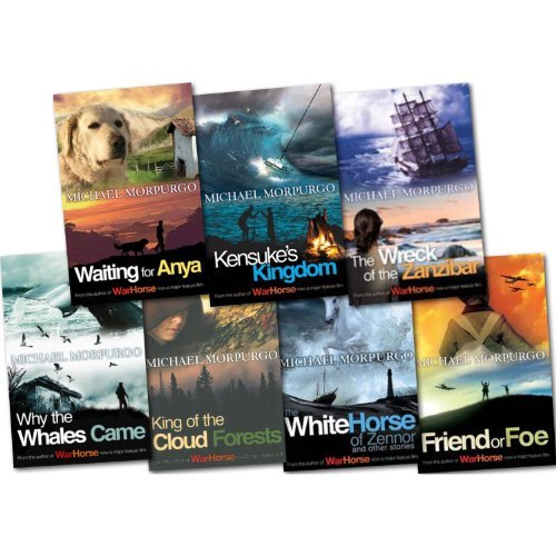 Michael Morpurgo Story Collection 7 Books Set Pack (Waiting for Anya, Why the Whales Came, The Wreck of the Zanzibar, The White Horse of Zennor, King of the Cloud Forests, Kensuke's Kingdom, Friend or Foe)