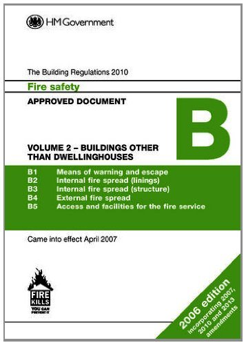 Approved Document B: Fire Safetybuildings Other Than Dwellinghouses Volume 2