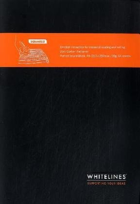 Whitelines A4 Squared Notebook, Black