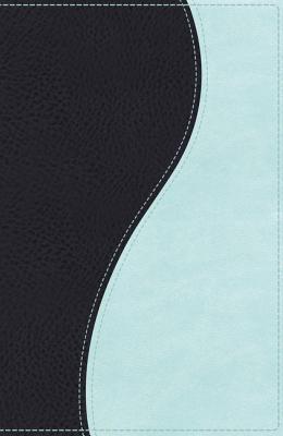 NKJV, Ultraslim Bible, Imitation Leather, Navy/Light Blue, Red Letter Edition