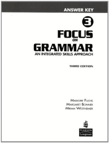 Focus on Grammar 3 Answer Key