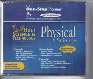Physical Science One Stop Planner with Test Generator