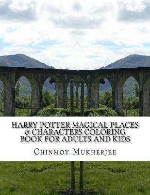 Harry Potter Magical Places & Characters Coloring Book for Adults and Kids