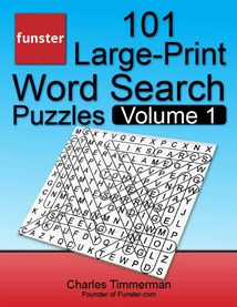 Funster 101 Large Print Word Search Puzzles Volume 1 Hours Of