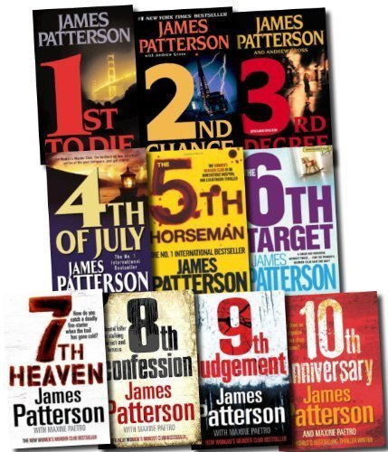 Womens Murder Club Collection James Patterson 10 Books Set (10th Anniversary, 9th Judgement, 8th Confession, 7th Heaven, The 6th Target, The 5th Horseman, 4th of July, 3rd Degree, 2nd Chance, 1st to Die)