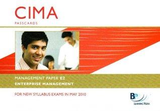 CIMA - E2: Enterprise Management: Management paper E2: Passcards
