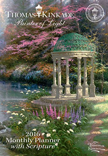 Thomas Kinkade Painter of Light with Scripture 2016 Monthly Pocket Planner Calen