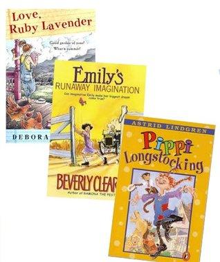 Book Sets for Girls (Grade 3-5): Pippi Longstocking; Emily's Runaway Imagination; Love Ruby Lavender