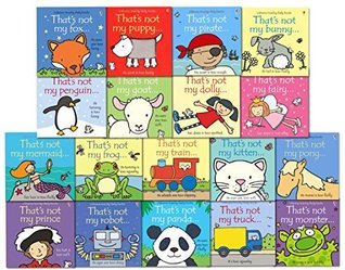 That's not my 18 Toddlers Books Set Collection By Fiona Watt Mermaid, Kittenn, Penguin, Train, Fox, Panda, Goat, Puppy, Prate, Dolly, Fairy, Robot