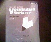 Vocabulary Workshop Test Booklet Form B Level B