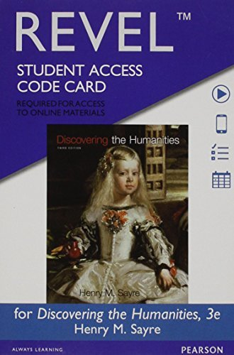 Revel for Discovering the Humanities -- Access Card