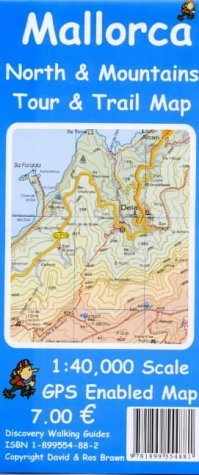 Mallorca North and Mountains Tour and Trail Map 2002