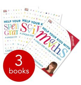 DK Help Your kids With Spelling & Grammer Maths Science Collection - 3 Book Box Set