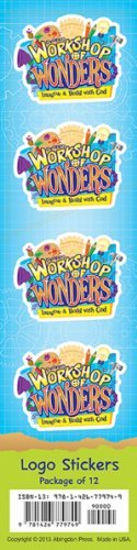 Vacation Bible School (VBS) 2014 Workshop of Wonders Logo Stickers (Pkg of 12): Imagine & Build with God