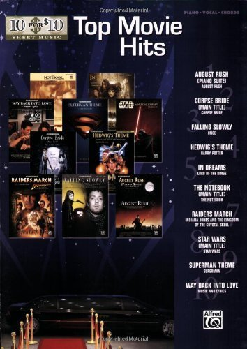 10 for 10 Sheet Music Top Movie Hits: Piano/Vocal/Chords