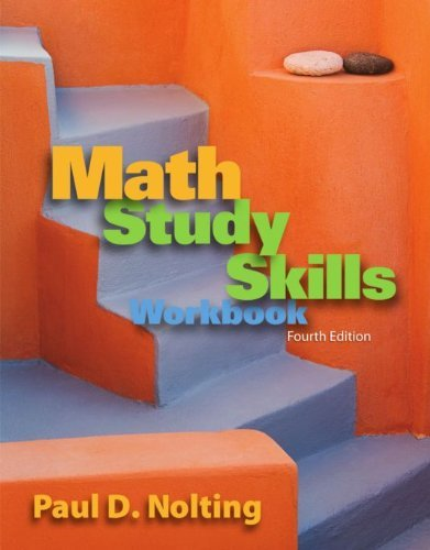 Math Study Skills Workbook, 4th Ed.
