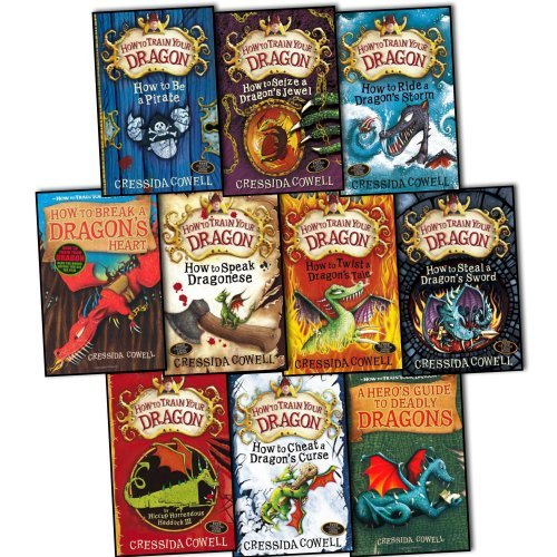 Cressida Cowell: Hiccup, How To Train Your Dragon 10 Books Collection Pack