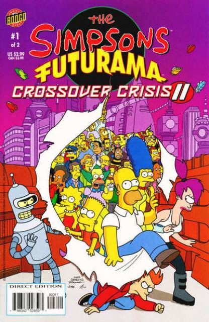 The Simpsons Futurama Crossover Crisis 2 #1 Slaves of New New York!