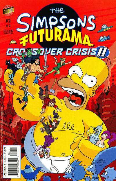 The Simpsons Futurama Crossover Crisis 2 #2 The Read Menace!
