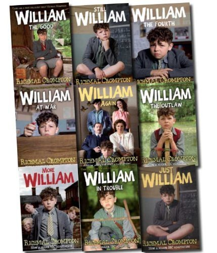 Just William Series 9 Books Set Pack Collection (Just William, More William, William Again, William - The Fourth, Still William, William the Outlaw, William in Trouble, William the Good, William at War) (Just William Series)