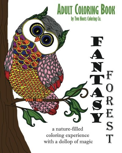 Adult Coloring Book: Fantasy Forest: Volume 2 (Adult Coloring Books)
