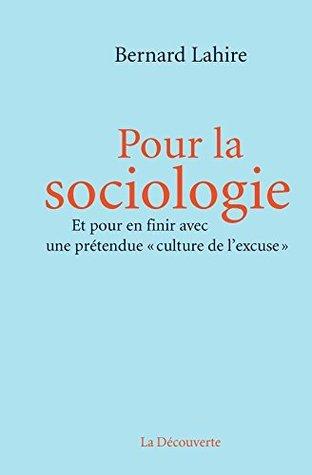 Pour la sociologie