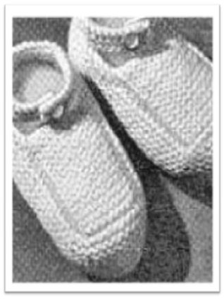#2100 BABY BOOTS VINTAGE KNITTING PATTERN