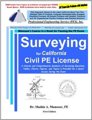Surveying for California Civil PE License