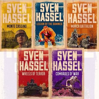 Sven Hassel 4 Books Bundle Collection (March Battalion, Wheels of Terror, Legion of the Damned, Comrades of War, Monte Cassino)