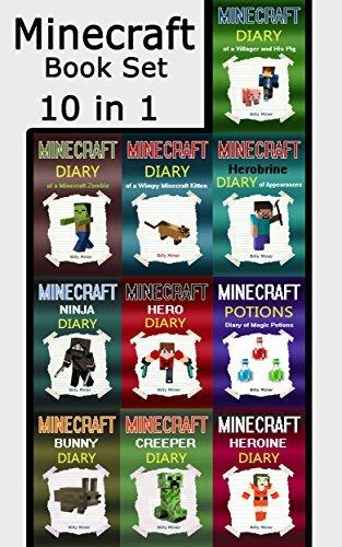 Minecraft Book Set: Minecraft Books 10 in 1 (Minecraft, Minecraft Book, Minecraft Book Bundle, Minecraft Box Set, Minecraft Books, Minecraft Diaries, Minecraft Diary, Minecraft Book for Kids)