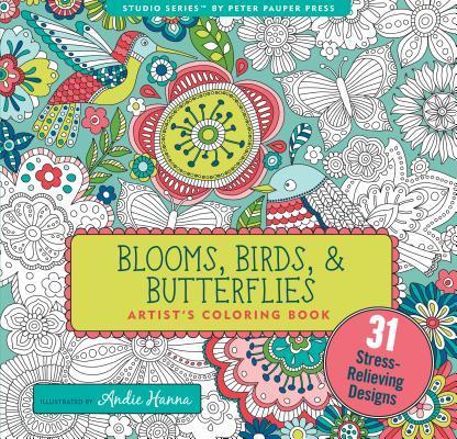 Blooms, Birds, & Butterflies Adult Coloring Book