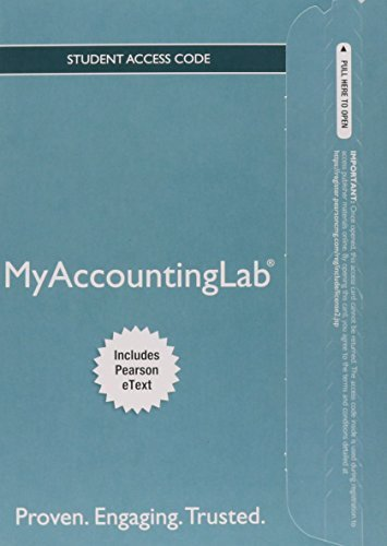 MyAccountingLab® with Pearson eText -- Instant Access -- for Horngren's Financial & Managerial Accounting