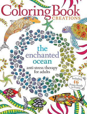 Coloring Book Creations Enchanted Oceans Anti Stress Therapy For Adults