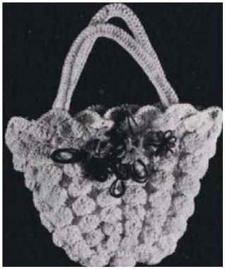 #0921 SHELL BASKET BAG VINTAGE CROCHET PATTERN