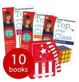 Carol Vorderman, Top of the Class (KS2) 7+ years - 10 Books in a Satchel (Collection) includes Maths, English, Science, French & Computer Coding