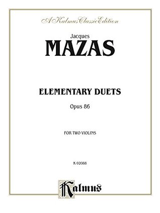 Elementary Duets, Op. 86: For Two Violins: 0