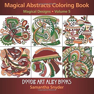 Magical Abstracts Coloring Book Magical Designs Doodle Art Alley