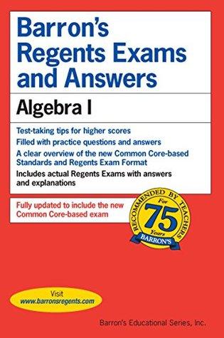 Barron's Regents Exams and Answers:Algebra 1