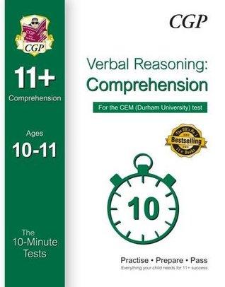 10-Minute Tests for 11+ Comprehension (Ages 10-11) - CEM Test