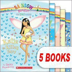 The Pet Fairies (5 Book Set) (Rainbow Magic, Katie the Kitten Fairy; Bella the Bunny Fairy; Georgia the Guinea Pig Fairy; Lauren the Puppy Fairy; Penny the Pony Fairy)